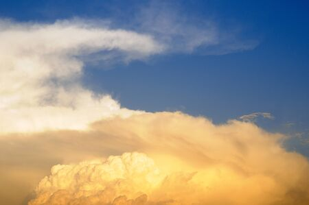 Pattern of cloud formation against blue skies,Pune,Maharashtra,India Stock Photo