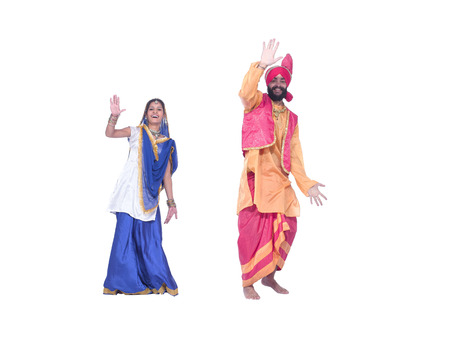 Dancers performing folk dance bhangra