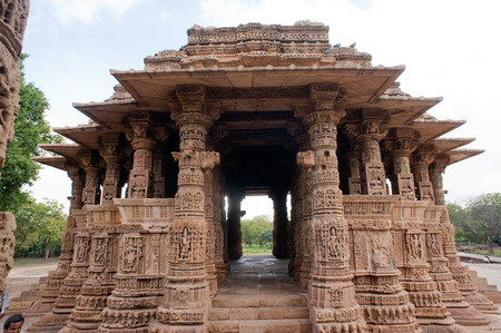Garbhagriha hall of sun temple at modhera,Mehsana,Gujarat,India