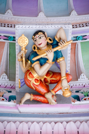 Sculpture of woman on the ceiling of panchasara parasvanath jain temple,Patan,Gujarat,India