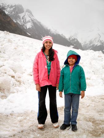 Girls at zojila pass srinagar leh highway,Jammu and Kashmir,India