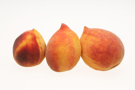 Gold red peach prunus persica,India
