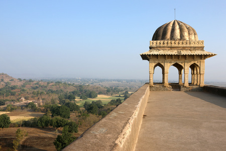 Roof view of roopmati pavilion,Mandu,Dhar,Madhya Pradesh,India Banque d'images