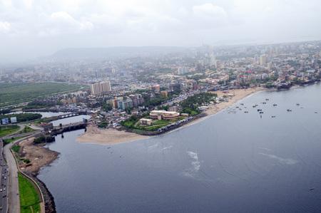 aerial view of Mahim creek,Bombay Mumbai,Maharashtra,India