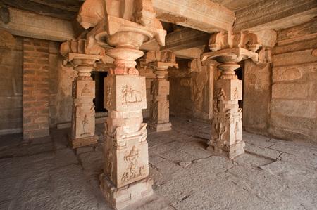 Achyutaraya 寺院、ハンピ、カルナータカ州、インドのインテリア 写真素材