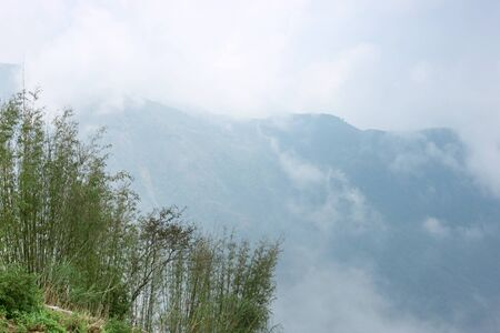 Mountains tops covered with clouds,Cherrapunji,Sohra,Meghalaya,India 写真素材