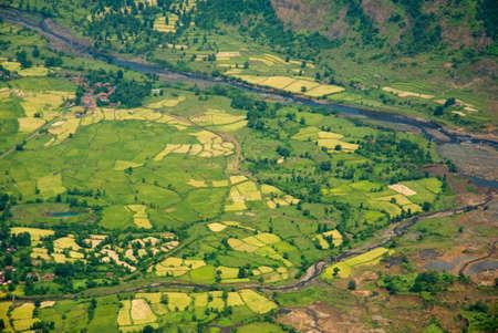 konkan: Aerial of konkan valley,Maharashtra,India