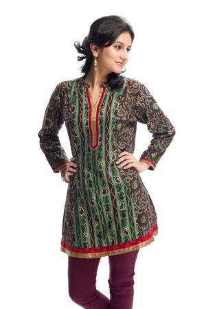 Woman in traditional wearing,India Stock Photo