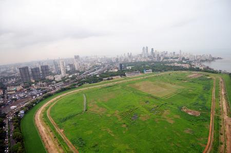 aerial view of mahalaxmi race course,Bombay Mumbai,Maharashtra,India