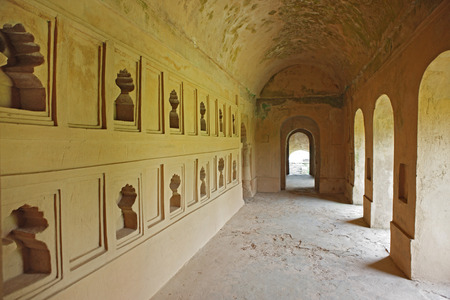 Interior view of talatal ghar,Sivsagar,Assam,India