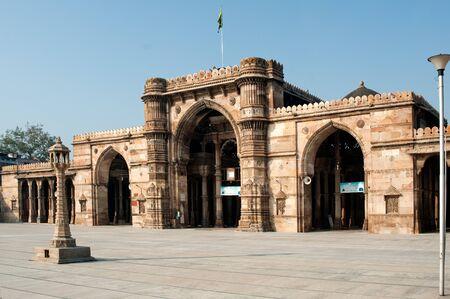 Prayer room facing the courtyard of jami masjid,Ahmedabad,Gujarat,India