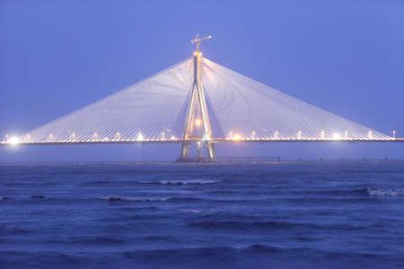 Bandra Worli Rajiv Gandhi sea link,Bombay Mumbai,Maharashtra,India