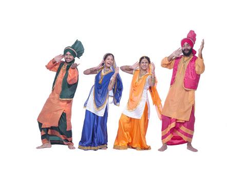 Dancers performing folk dance bhangra