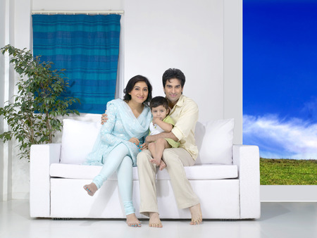 Couple with their baby