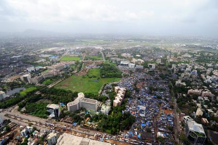 aerial view of marol andheri with leela hotel,Bombay Mumbai,Maharashtra,India