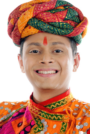 Rajasthani man in traditional attire