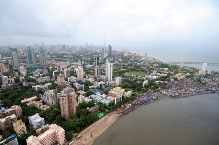 aerial view of shivaji park and prabhadevi,Bombay Mumbai,Maharashtra,India