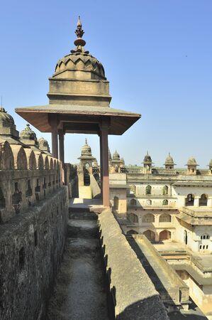 Orchha raja mahals chhatris madhya pradesh india