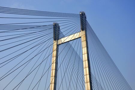 Pattern of second Howrah bridge at kolkata India