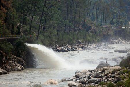 Waterfall River Bhagirathi Uttarakhand India  Asia Stock Photo