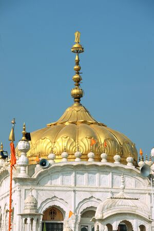 Golden Domes of Gurudwara Hazoor Sahib sachkhand at Nanded Maharashtra India