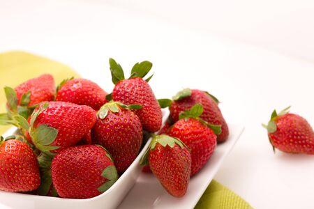 Strawberries in bowl Stock fotó