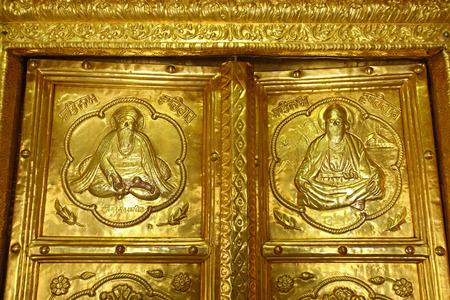 Gold plated Door Sikhism Gurudwara Hazur Sahib sachkhand Nanded Maharashtra India