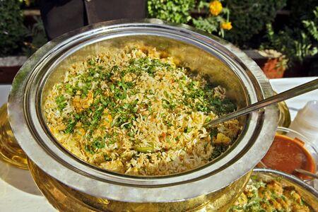 Indian food Vegetable Pulav India Stock fotó