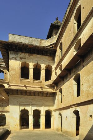 Orchha raja mahal khajuraho madhya pradesh india
