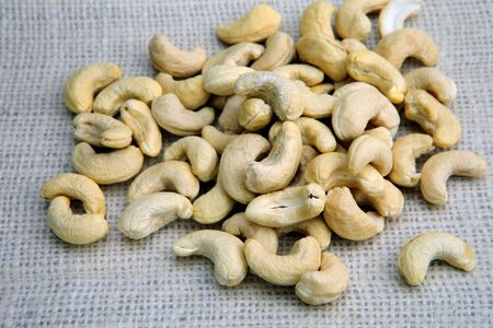 Dry roasted salted shelled cashew nuts Stock fotó
