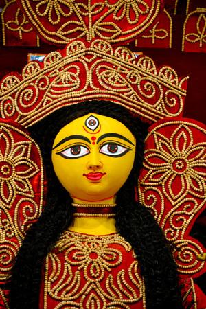Portrait of Durga calcutta india