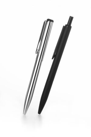 Steel Black & White  Ball Pens India Фото со стока