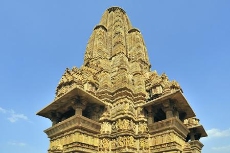Khajuraho lakshmana temples ornate sikhara in madhya pradesh india