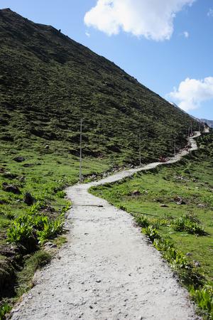 A steep path Uttarakhand India Asia