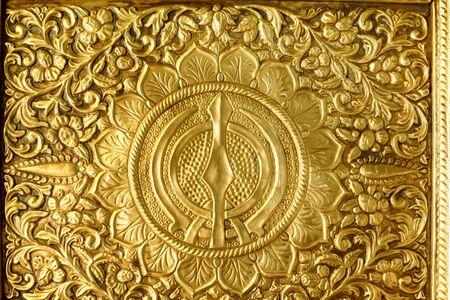 Vergulde motieven met bloemige en figuratieve ontwerpen Nanded Maharashtra India