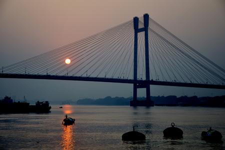 Howrah Bridge at Kolkata India