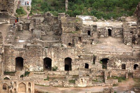 Golconda fort Hyderabad Andhra Pradesh India Asia Stock Photo