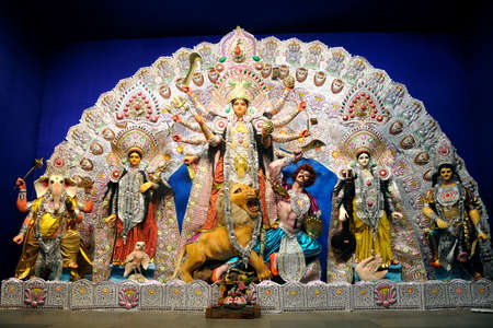 Durga Puja calcutta India Stock Photo
