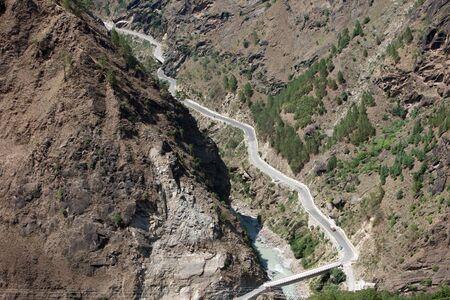 Roads at Joshimath Uttarakhand India Asia Stock Photo