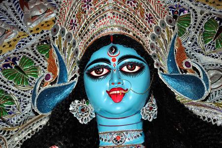 Goddess Kali calcutta india Stock Photo