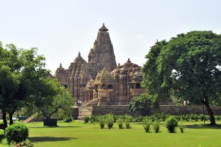 Kandariya mahadeva and jagadambi temple Khajuraho madhya pradesh india Stock Photo