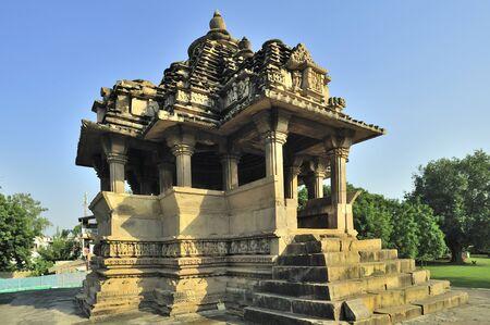 Nandi temple Khajuraho madhya pradesh india Stock Photo