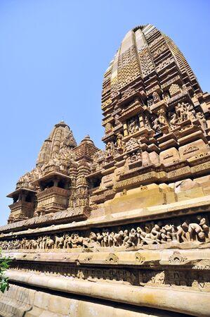 Khajuraho lakshmana temple plinth madhya pradesh india