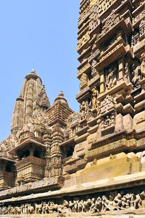 Khajuraho lakshmana temple plinth madhya pradesh india Banque d'images - 85912655