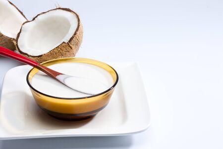 Coconut milk in bowl