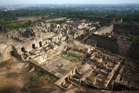 Golconda fort Hyderabad Andhra Pradesh India Asia LANG_EVOIMAGES