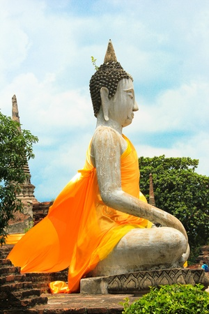 Buddha in the old capital of Thailand photo