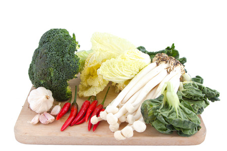 Vegetables on the butcher Stock Photo