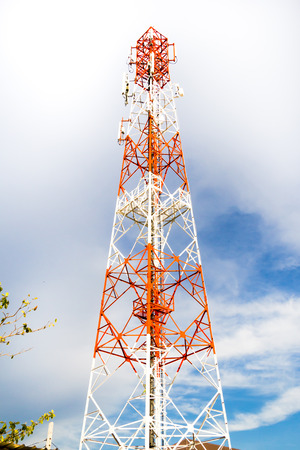 mobile communication: Mobile phone communication antenna tower
