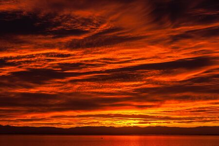 spectacular: Spectacular sunset after heavy rain